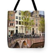 Herengracht Canal Houses In Amsterdam Tote Bag