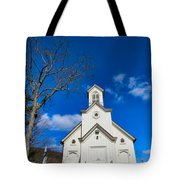Heres The Church And The Steeple Tote Bag