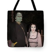 Herman And Lilly Munster Tote Bag