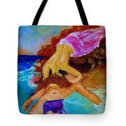 Hero And Leander Tote Bag