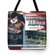 Heroes Of The Alamo Lobby Card 1936 Julian Rivero Collage Color Added 2012 Tote Bag