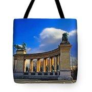 Heroes Square Tote Bag