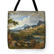 Heroic Landscape With Rainbow Tote Bag