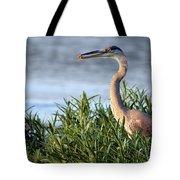 Heron And Crayfish 2029 Tote Bag