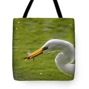 Heron And Dragonfly Tote Bag