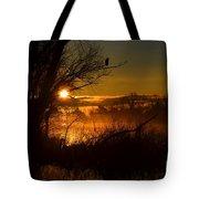 Heron At Sunrise Tote Bag