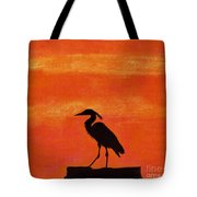 Heron - At - Sunset Tote Bag