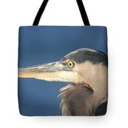 Heron Close-up Tote Bag