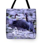 Heron Encounter - Battle - Fight Tote Bag