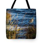 Heron Fishing Tote Bag