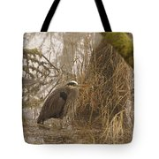 Heron In A Fog Tote Bag