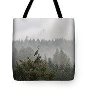 Heron In The Mist Tote Bag