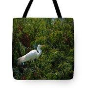 Heron In Tree Tote Bag