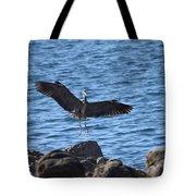 Heron Landing Tote Bag