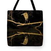 Heron Mirror On Maryland Canal Tote Bag