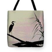 Heron Morning Tote Bag