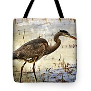 Heron On A Cloudy Day Tote Bag