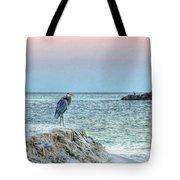 Heron On Beach Tote Bag