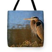 Heron On The Lake Tote Bag