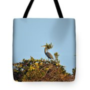 Heron Perch Tote Bag