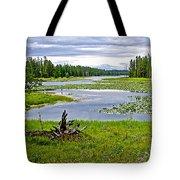 Heron Pond In Grand Teton National Park-wyoming   Tote Bag
