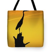 Heron Silhouette Tote Bag
