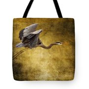 Heron Texturized Tote Bag