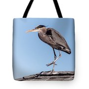Heron Up On The Roof Tote Bag