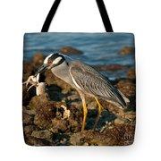 Heron With Crab Tote Bag