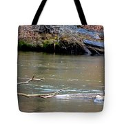 Heron With Ducks Tote Bag