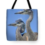 Herons On The Lookout Tote Bag