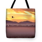Heron's Sunrise Tote Bag
