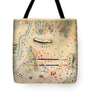 Herreras Map Of A Mexican War Campaign 1848 Tote Bag