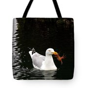 Herring Gull With Crab Tote Bag
