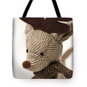 Herringbone Reindeer Tote Bag by Anne Gilbert