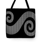 Herringbone Swirl On Black Tote Bag