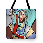 Hes Got The Whole World In His Hand Tote Bag by Anthony Falbo