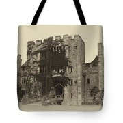 Hever Castle Yellow Plate Tote Bag