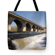 Hexham Bridge And Weir Tote Bag