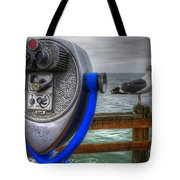 Hey Somebody Look At Me Tote Bag by Bob Christopher
