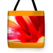 Hibiscus Abstract In Red And Yellow Tote Bag