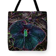 Hibiscus At Midnight Tote Bag