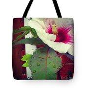 Hibiscus Flower In Bloom Tote Bag