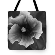 Hibiscus In Black And White Tote Bag