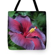 Hibiscus Night Fire Tote Bag