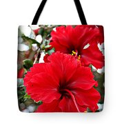 Hibiscus Perspective Tote Bag