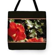 Hibiscus Red Tote Bag