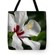 Hibiscus White Wings Tote Bag