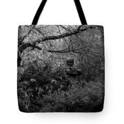 Hidden Garden In Black And White Tote Bag
