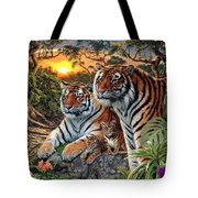 Hidden Images - Tigers Tote Bag by Steve Read